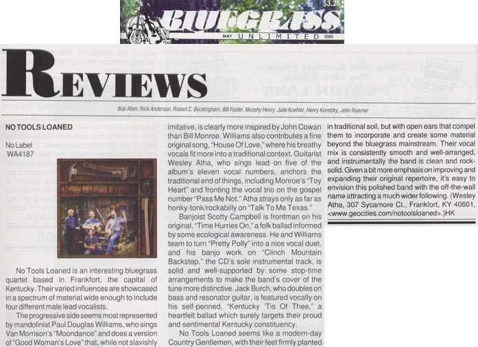 Bluegrass Unlimited Review
